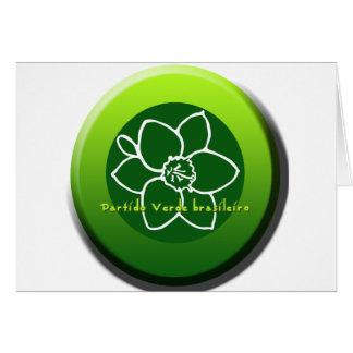 Partido Verde brasileiro Greeting Card