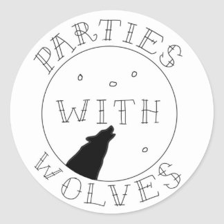 Parties with Wolves Sticker