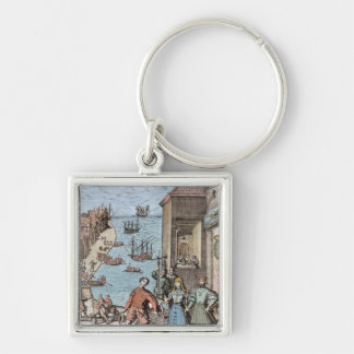 Parting of Columbus with Ferdinand and Key Ring