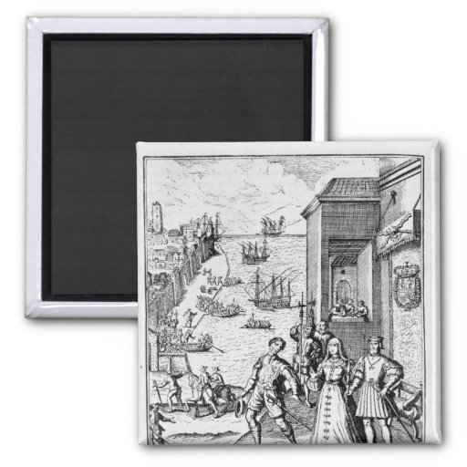 Parting of Columbus with Ferdinand and Fridge Magnet