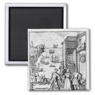 Parting of Columbus with Ferdinand and Square Magnet