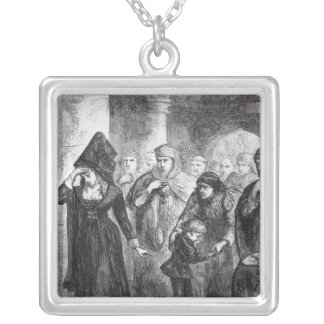 Parting of Queen Elizabeth Wydville and her Silver Plated Necklace