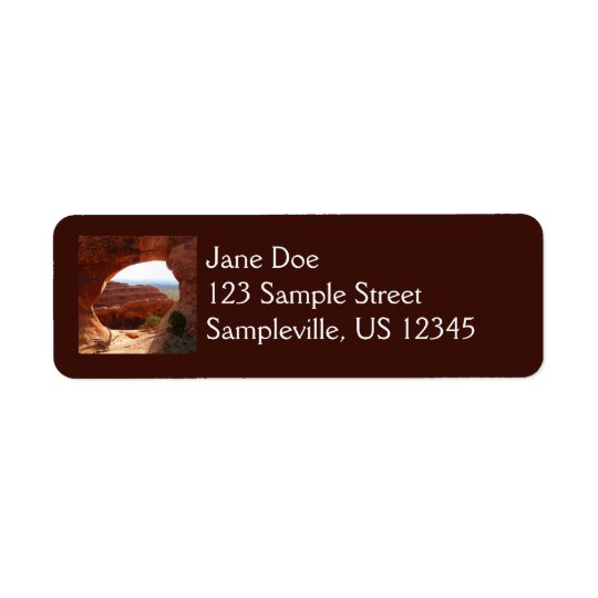 Partition Arch at Arches National Park Return Address Label