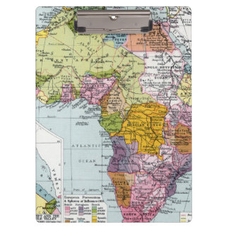 PARTITIONED AFRICA, 1914 CLIPBOARD