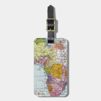 PARTITIONED AFRICA, 1914 LUGGAGE TAG