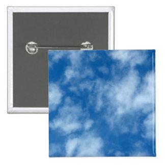 Partly Cloudy Blue Sky 15 Cm Square Badge