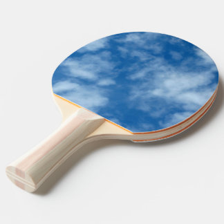 Partly Cloudy Blue Sky Photo on Ping-Pong Paddle