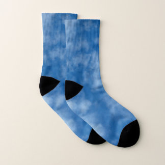 Partly Cloudy Blue Sky with Clouds Photo Socks