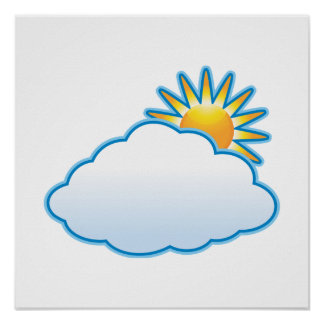 partly cloudy posters