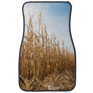 Partly Harvested Corn Field Car Mat