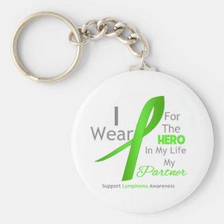 Partner Hero In My Life - Lymphoma Basic Round Button Key Ring