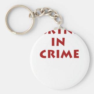 Partner in crime! basic round button key ring