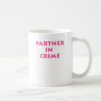 Partner in crime coffee mugs