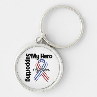 Partner - Military Supporting My Hero Silver-Colored Round Key Ring