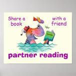 Partner Reading Classroom Poster