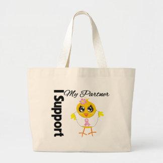 Partner Support Breast Cancer Canvas Bag