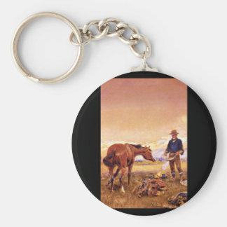 Partners', Charles M. Russell_Art of America Basic Round Button Key Ring
