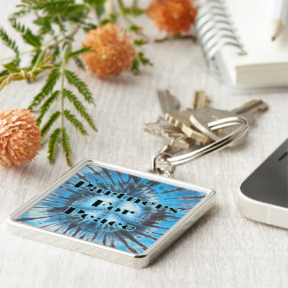 Partners for Peace Silver-Colored Square Key Ring
