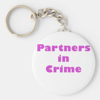 Partners in Crime Basic Round Button Key Ring
