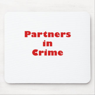 Partners in Crime Mouse Mat