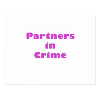 Partners in Crime Postcard