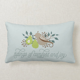 Partridge and Pear Holiday Lumbar Cushion