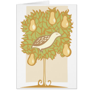 Partridge and Pear Tree Greeting Card