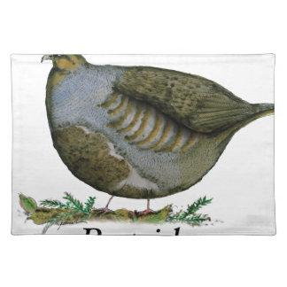 Partridge bird, tony fernandes placemat
