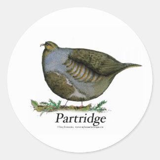 partridge bird, tony fernandes sticker