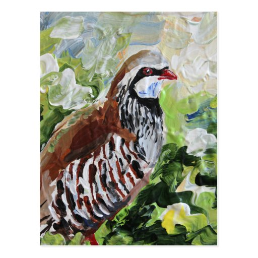 Partridge design just for you post cards