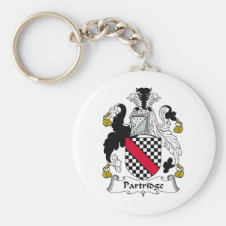 Partridge Family Crest Basic Round Button Key Ring