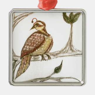 Partridge in a Green Pear Tree Christmas Ornament