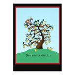Partridge in a Pear Tree 13 Cm X 18 Cm Invitation Card
