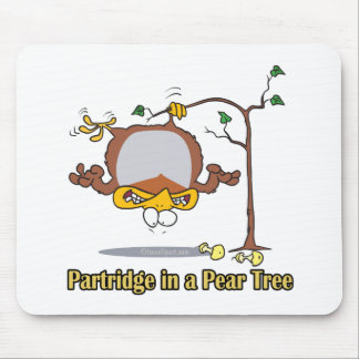 partridge in a pear tree 1st first day christmas mouse mat