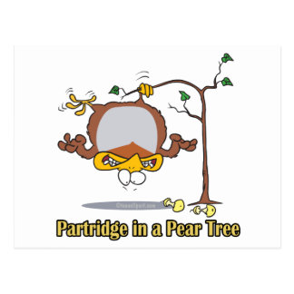 partridge in a pear tree 1st first day christmas postcard