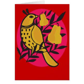 Partridge in a Pear Tree Card