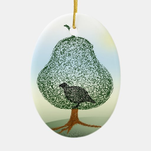 Partridge In A Pear Tree Christmas Christmas Tree Ornaments