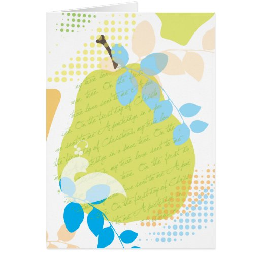 Partridge in a Pear Tree Christmas Greeting Card