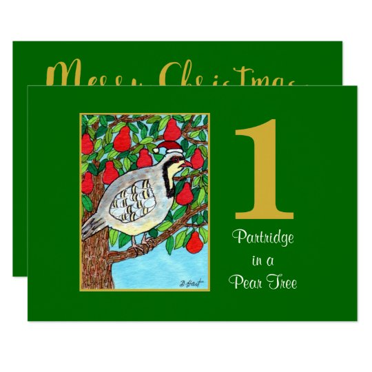 Partridge in a Pear Tree Cute Custom Christmas