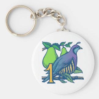 Partridge in a Pear Tree Key Ring