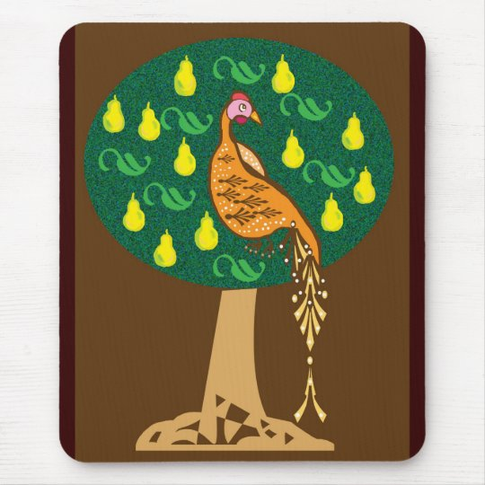 Partridge in a pear tree mouse mat