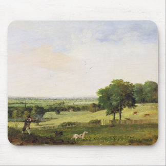 Partridge Shooting (oil on millboard) Mouse Mat