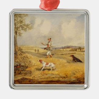 Partridge Shooting (oil on panel) Christmas Ornament