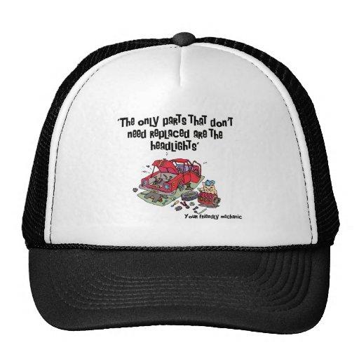 Parts Funny Mechanic Mesh Hat
