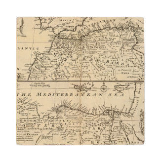 Parts of Barbary, Africa Wood Coaster