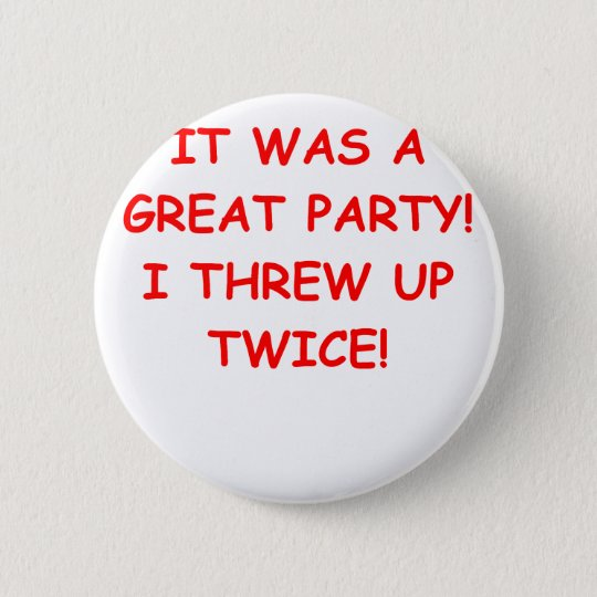 party 6 cm round badge