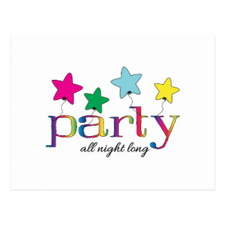 party all night long postcard