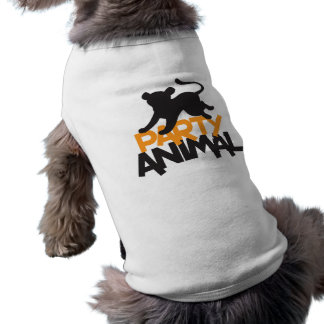 Party Animal! cat leaping Sleeveless Dog Shirt