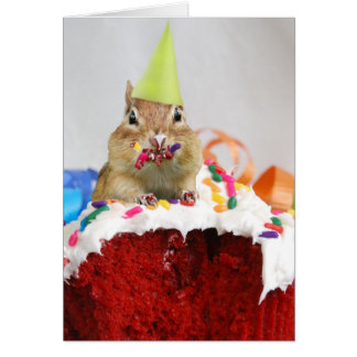 Party Animal Chipmunk Card