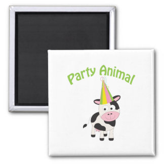 Party Animal cow Square Magnet